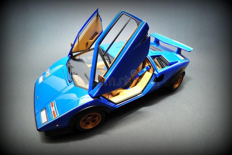 Blue Lamborghini Countach - open doors. Beautiful italian racer: Lamborghini Countach stock photography