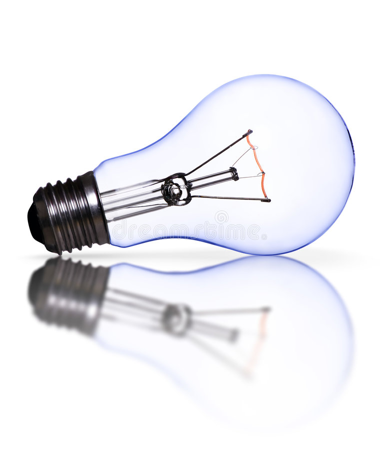 Blue lamp bulb royalty free stock photography