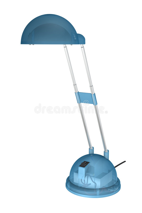 Blue lamp with clipping path royalty free stock photo