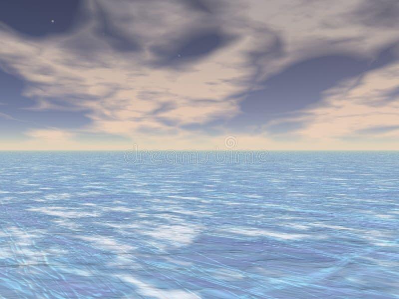 Blue landscape royalty free illustration