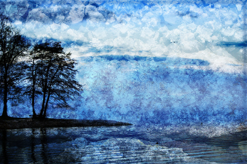 Download Blue  Landscape With Texture Stock Photo - Image: 2324356