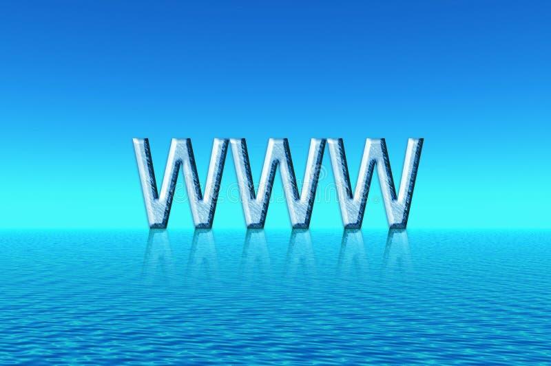 Blue landscape. WWW