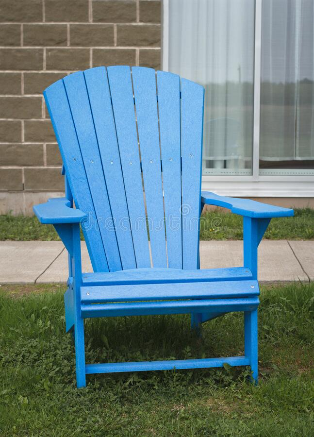 Blue Lawn Chair stock images