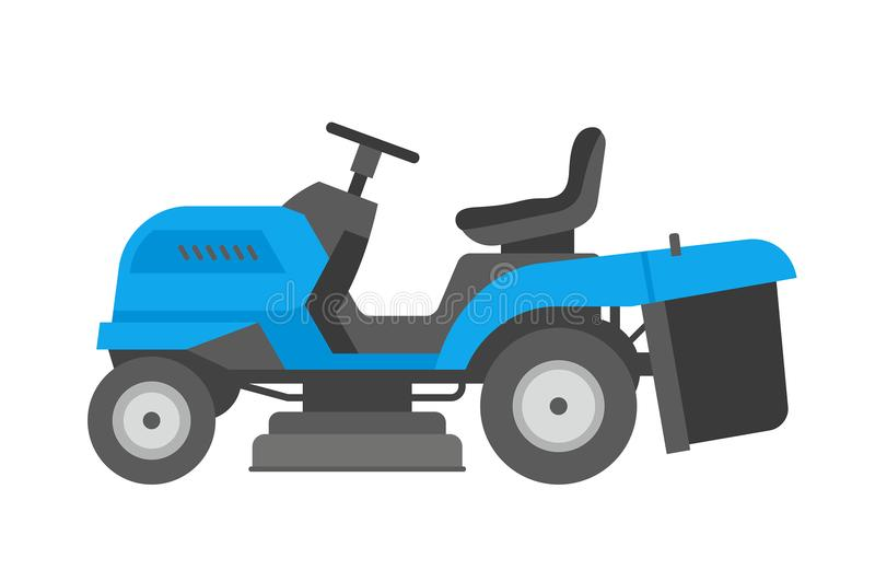 Blue lawnmower royalty free illustration