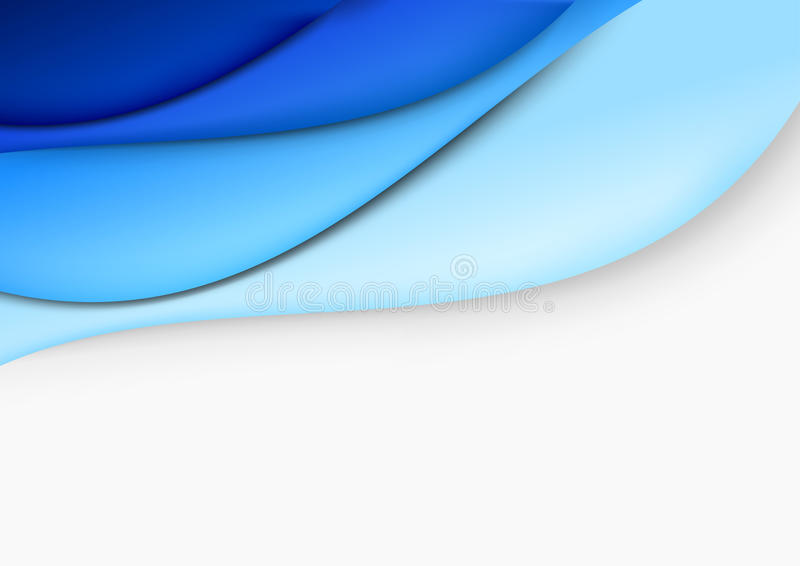 Blue layout - abstract template. Clip-art royalty free illustration