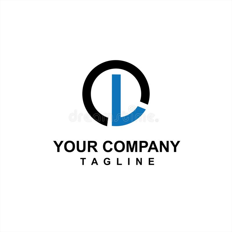 Blue LC, GL initials company logo and vector icon for internet or technology company 皇族释放例证