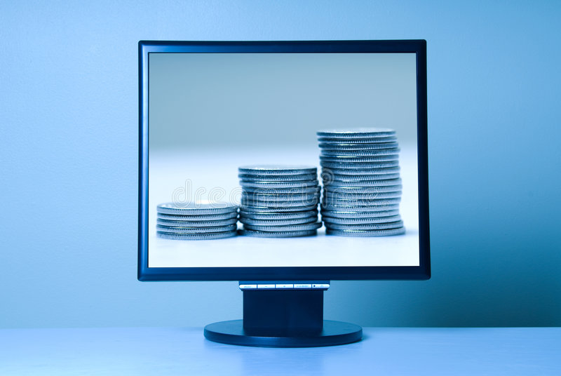 Blue LCD stock images
