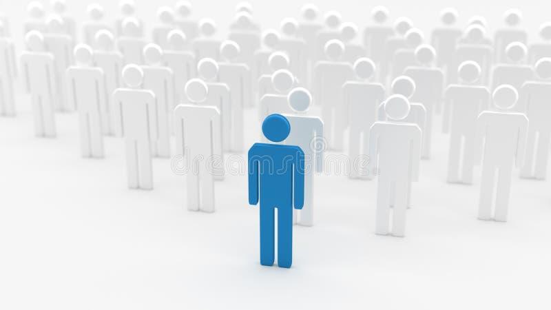 Blue leader man vector illustration