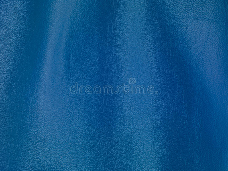 Blue leather texture, background. Close up stock image
