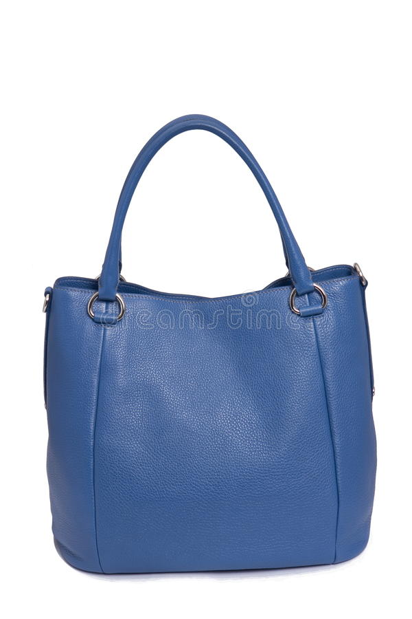Download Blue leather woman bag stock photo. Image of clasp, elegant - 12791570