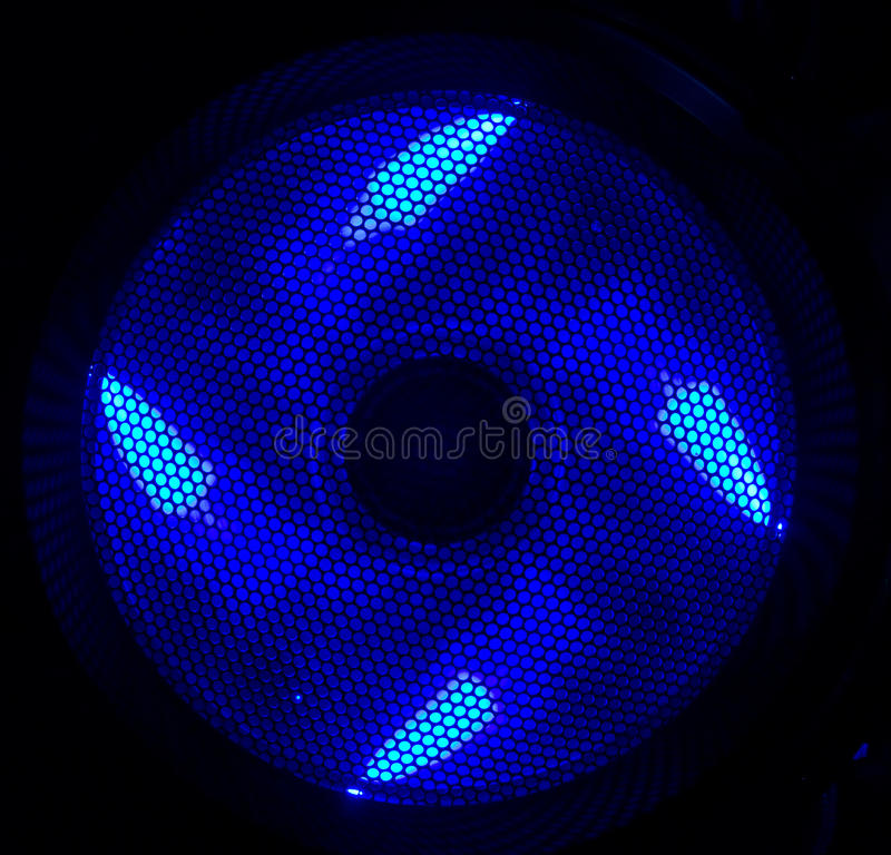 Free Blue Led Fan Royalty Free Stock Images - 16287209