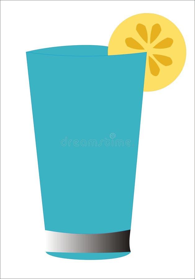 Blue lemon cocktail stock image