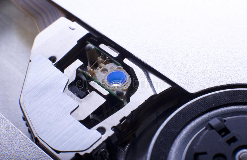 Blue Lens In Dvd Drive Stock Photos