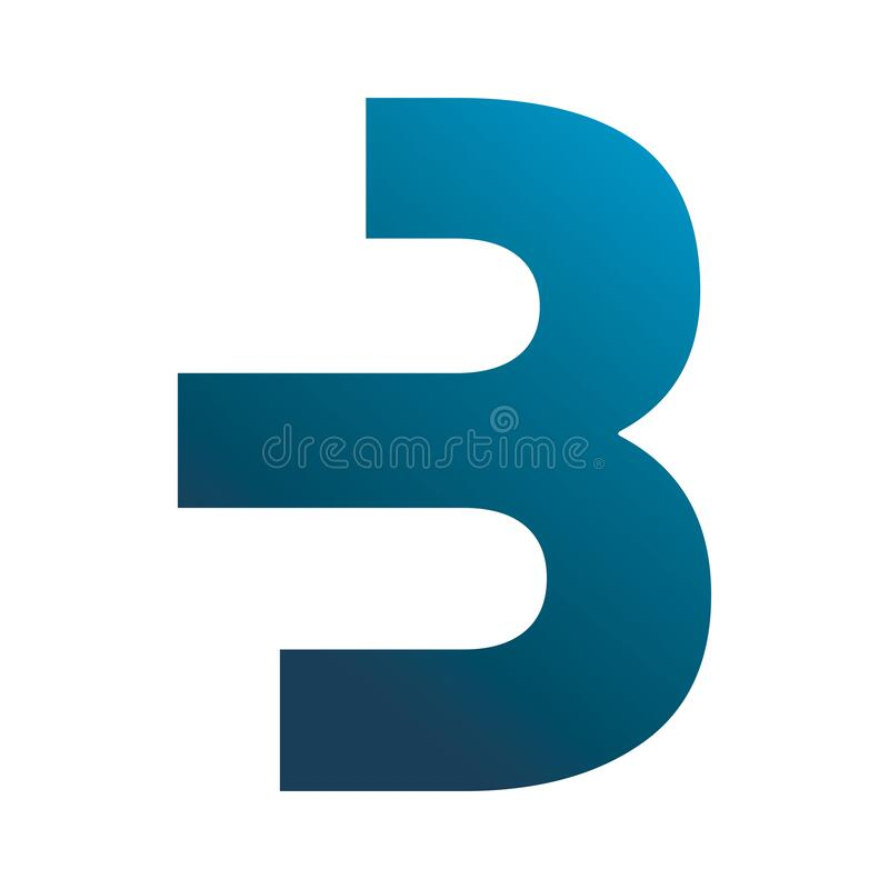Free Blue Letter B Three Logo Design Stock Photography - 185582352