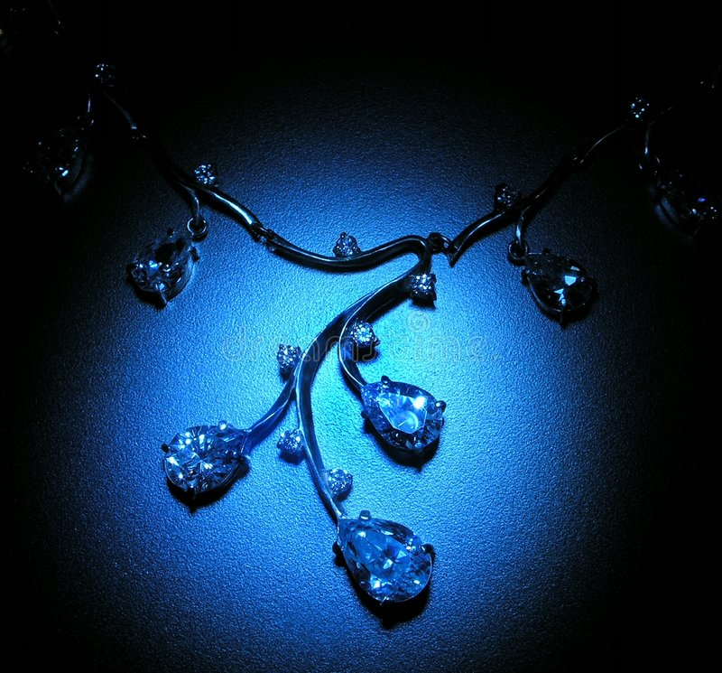 Blue light. Necklace stock images