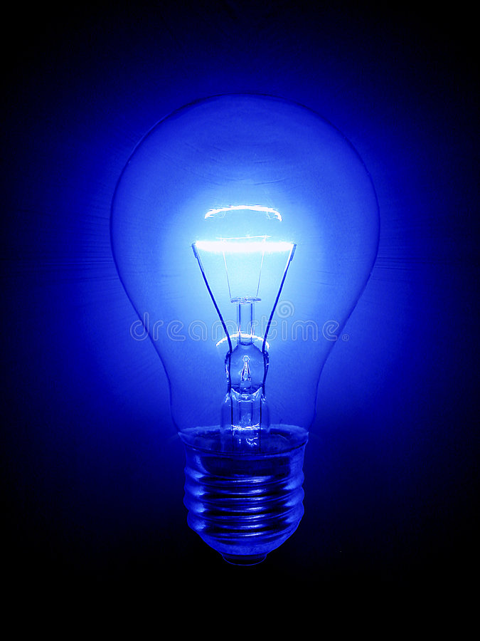 Free Blue Light Bulb Royalty Free Stock Image - 4427806