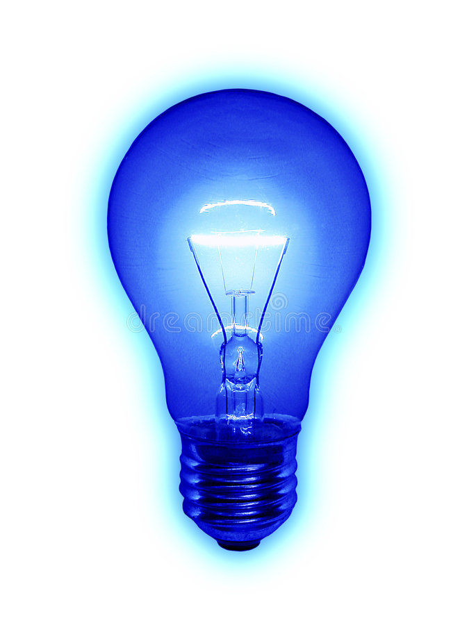 Download Blue Light Bulb stock image. Image of power, electricity - 4971277
