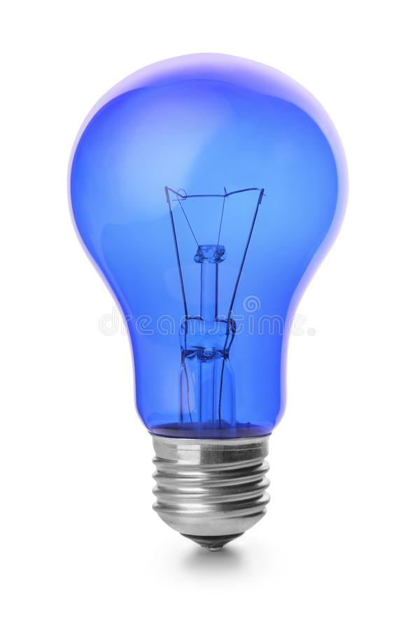 Free Blue Light Bulb Royalty Free Stock Photos - 60162958