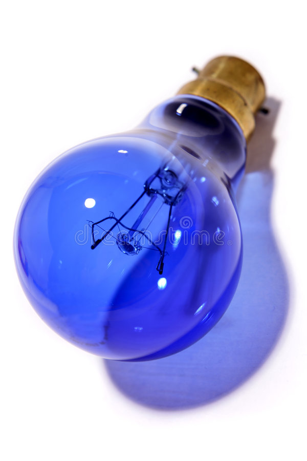 Download Blue light bulb close up stock image. Image of casting - 6885571