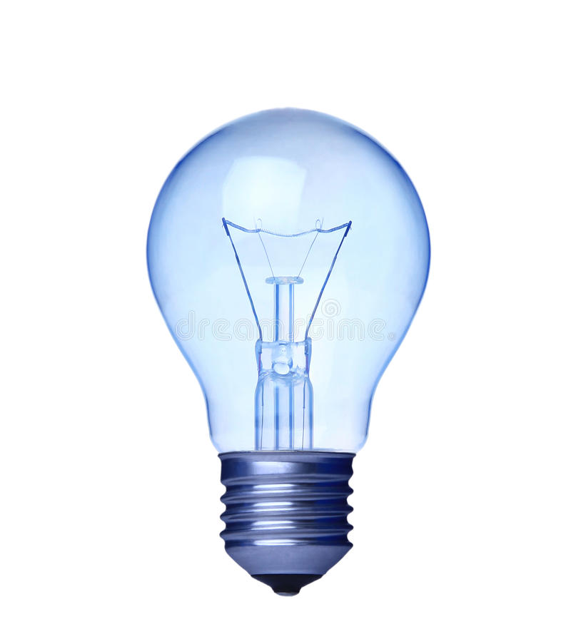 Free Blue Light Bulb Isolated Royalty Free Stock Images - 18125489