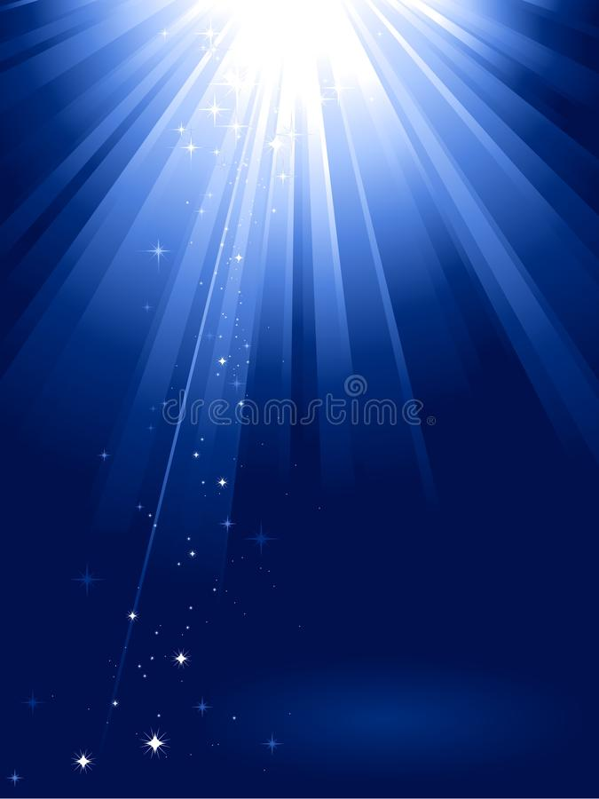 Download Blue Light Burst With Stars Stock Vector - Image: 11204524
