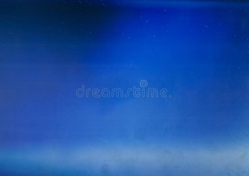 Blue light flare overlay aged filmstrip texture stock images
