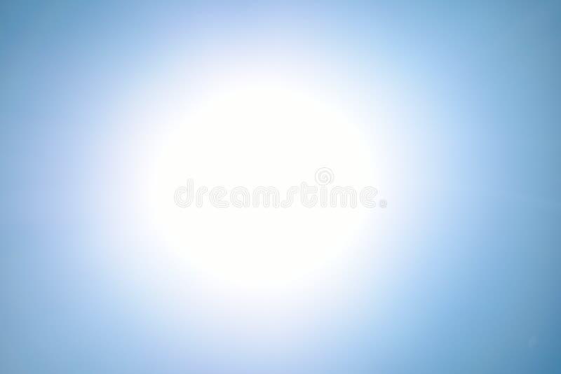 Blue light flare special effect  on black background , concert lighting.  stock photo