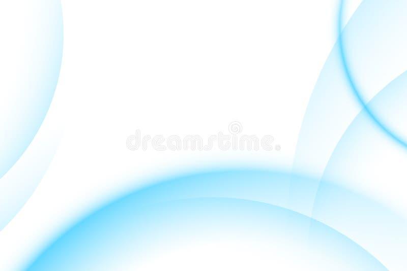 Blue light gradient background stock illustration