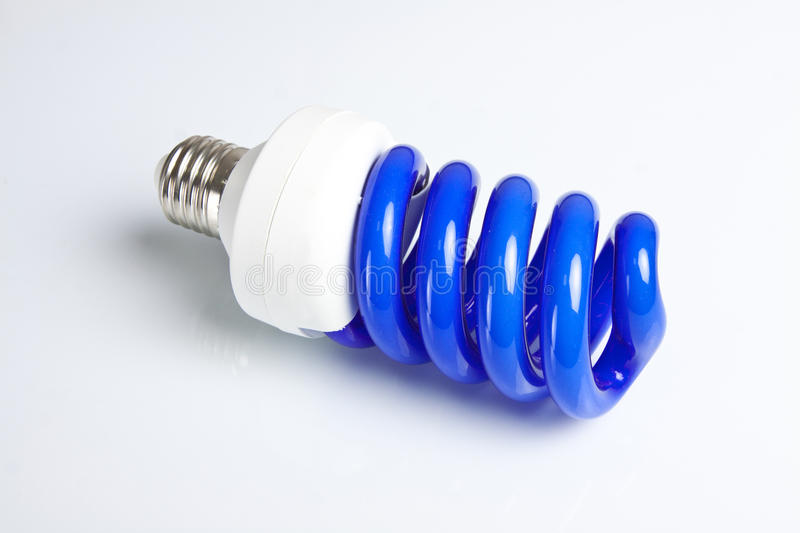 Blue light lamp stock photography