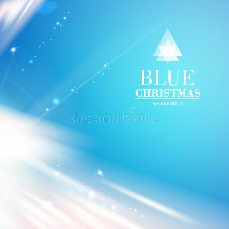 Blue light over sky, abstract background. vector illustration