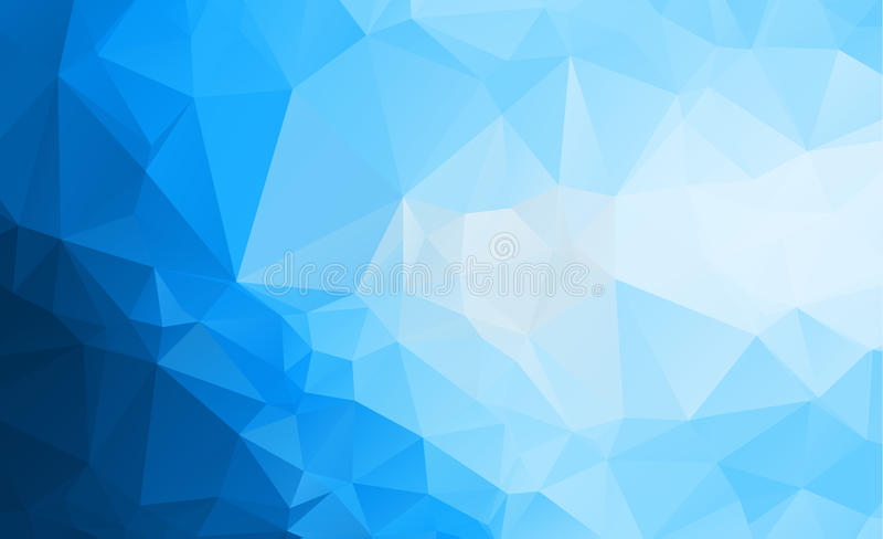 Blue Light Polygonal Low polygon Triangle Pattern Background vector illustration