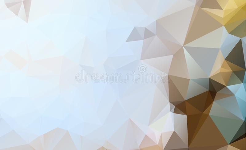 Blue Light Polygonal Low polygon Triangle Pattern Background royalty free stock photography