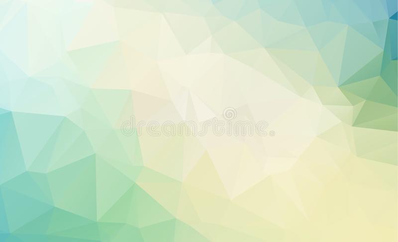 Blue Light Polygonal Low polygon Triangle Pattern Background royalty free stock image