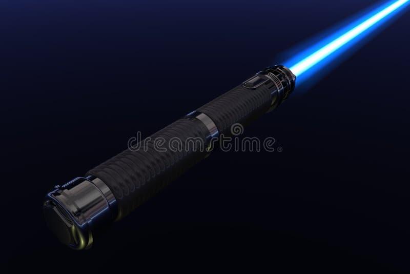 Download Blue light saber stock illustration. Image of illustration - 8586457