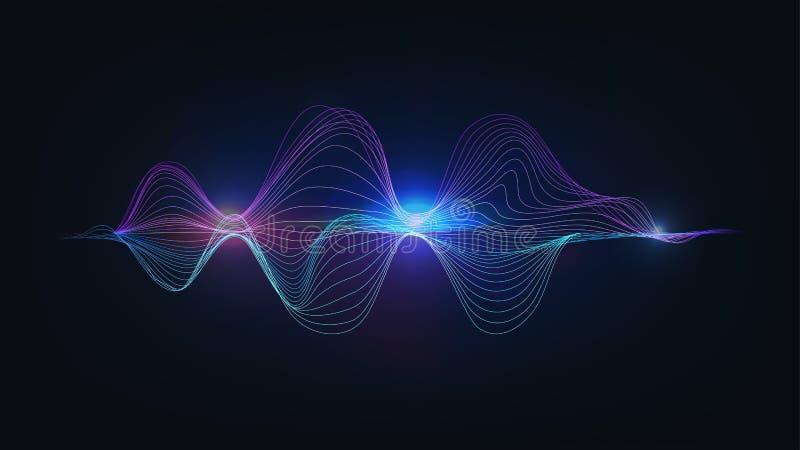 Blue light speaking sound wave illustration vector royalty free illustration