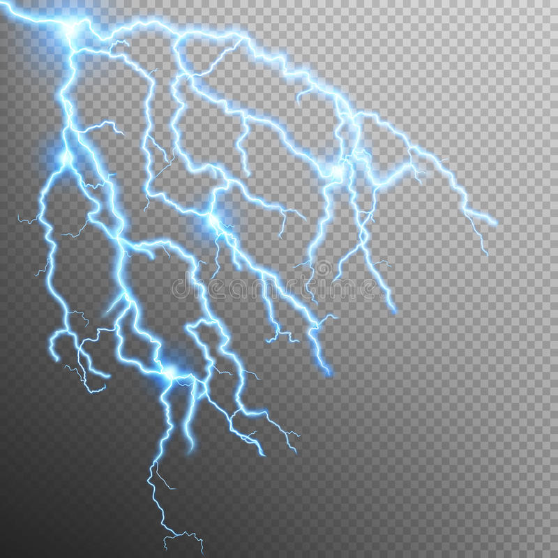 Blue lightning effect. EPS 10 royalty free illustration