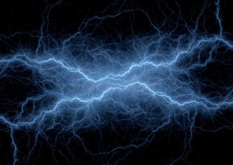 Blue lightning or sound waves visualization,. Digital electrocal background stock illustration