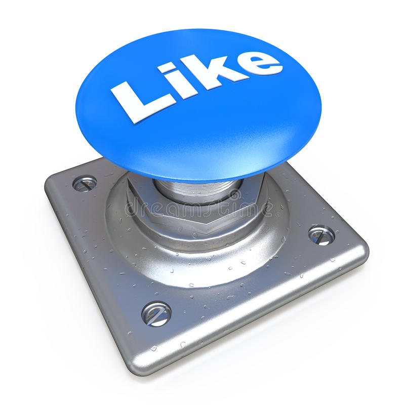 Blue LIKE button royalty free illustration