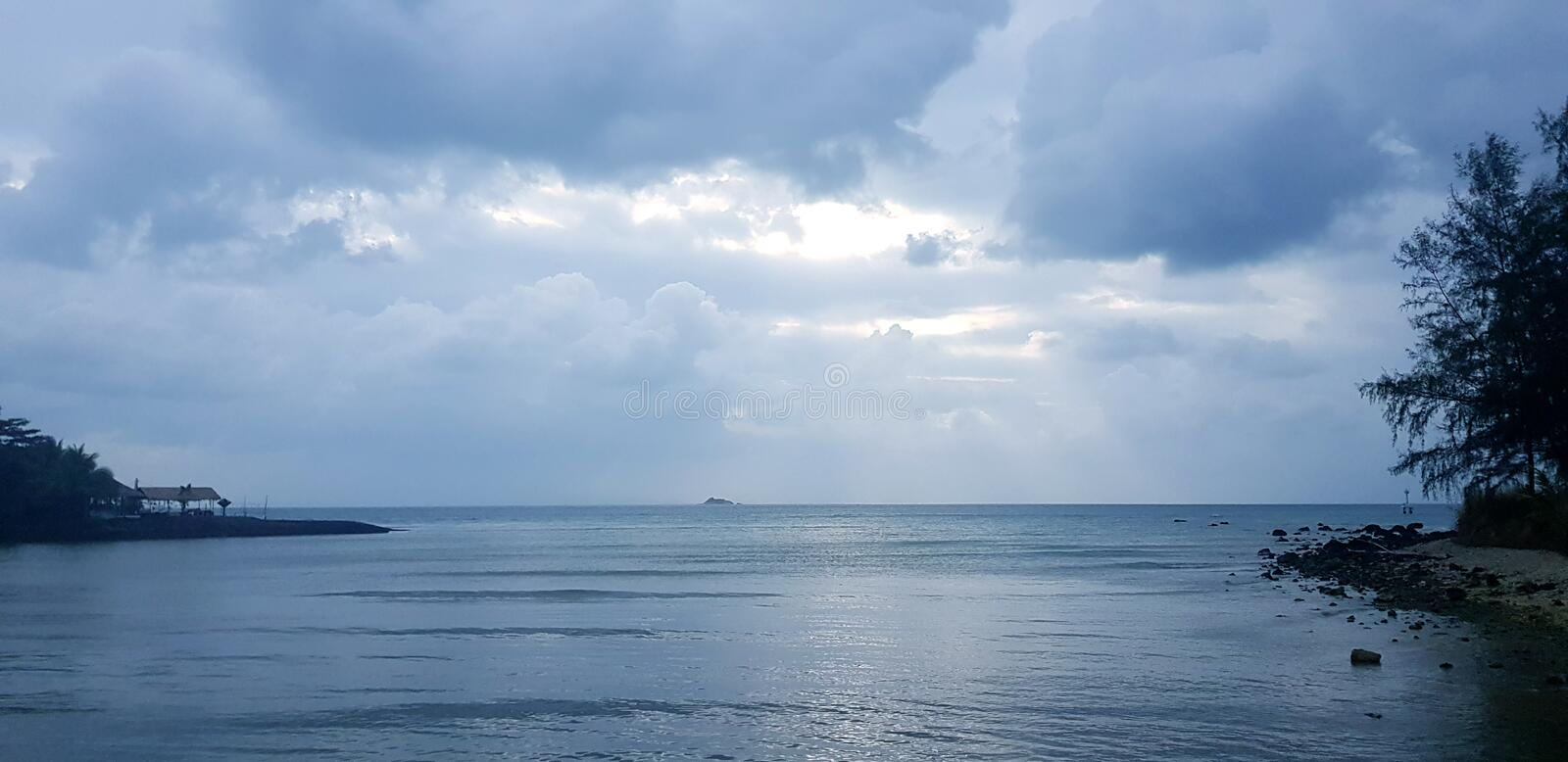 Blue like the ocean clouds JustInAdream royalty free stock images
