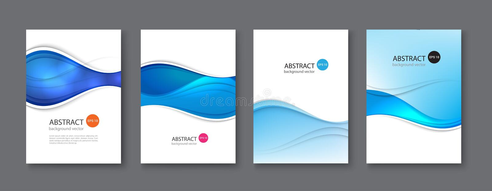 Blue line abstract set background. Vector illustration. vector illustration