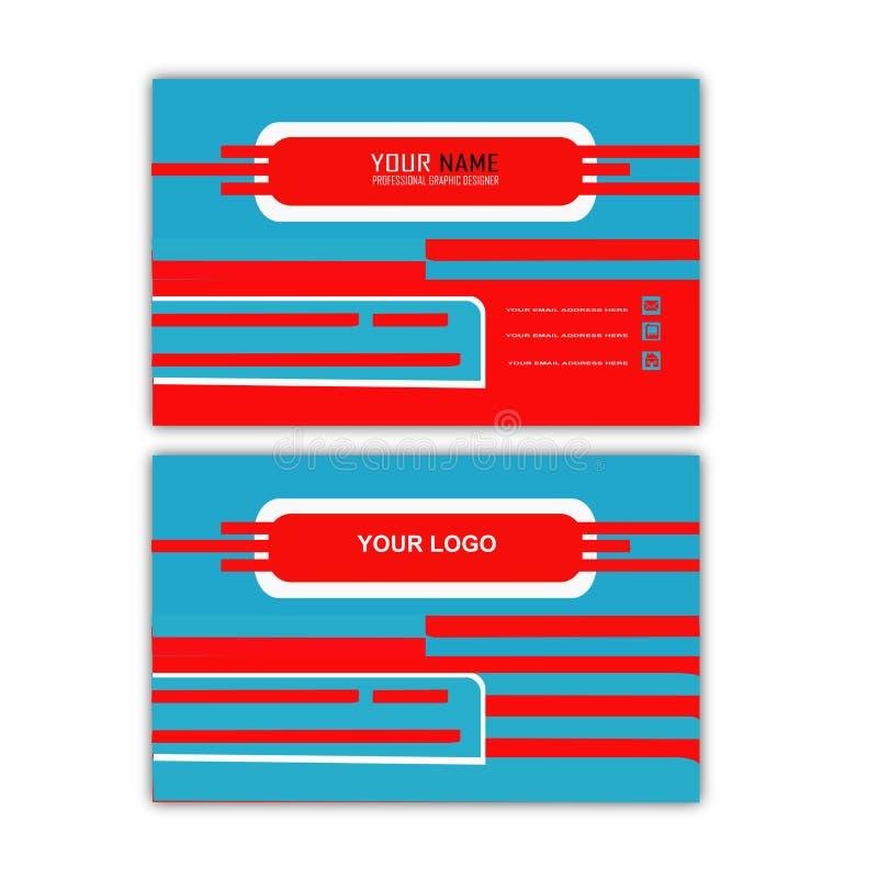 Blue Line affärskort royaltyfri illustrationer