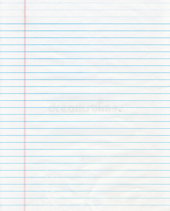 Blue Lined Paper Stock Image Image Of White Texture