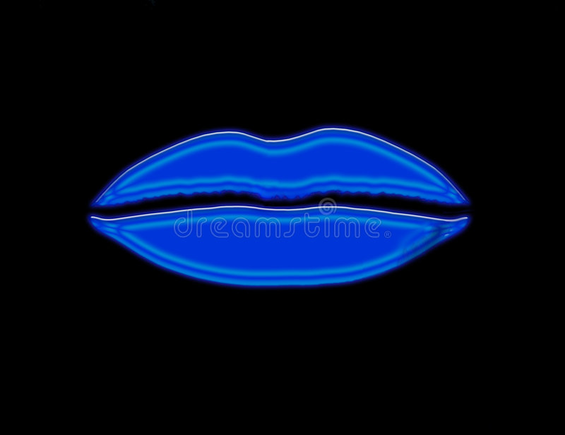 Blue Lips royalty free illustration