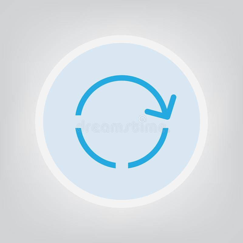 Loading icon. Blue loading icon- vector illustration royalty free illustration