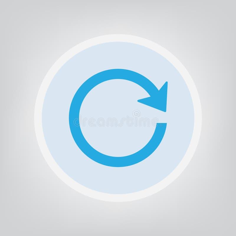 Loading icon. Blue loading icon- vector illustration stock illustration