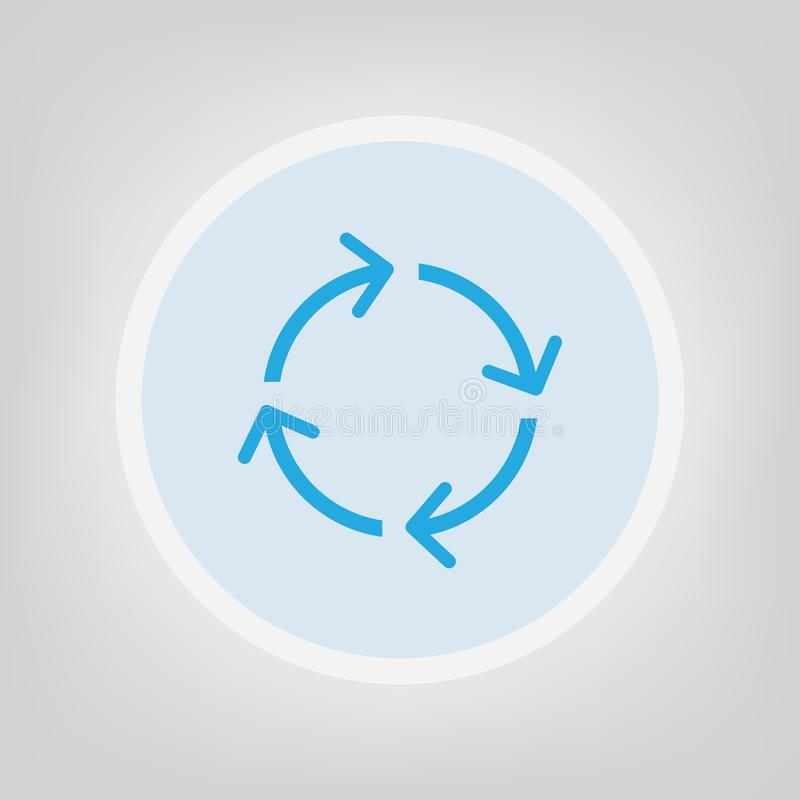 Loading icon. Blue loading icon- vector illustration vector illustration