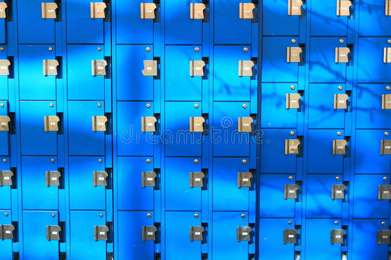 Blue Lockers Stock Photos
