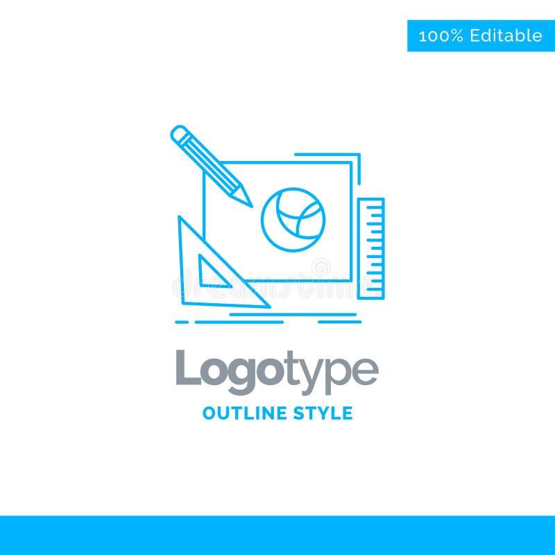 Blue Logo design for logo, design, creative, idea, design proces. S. Business Concept Brand Name Design and Place for Tagline. Creative Company Logo Template vector illustration