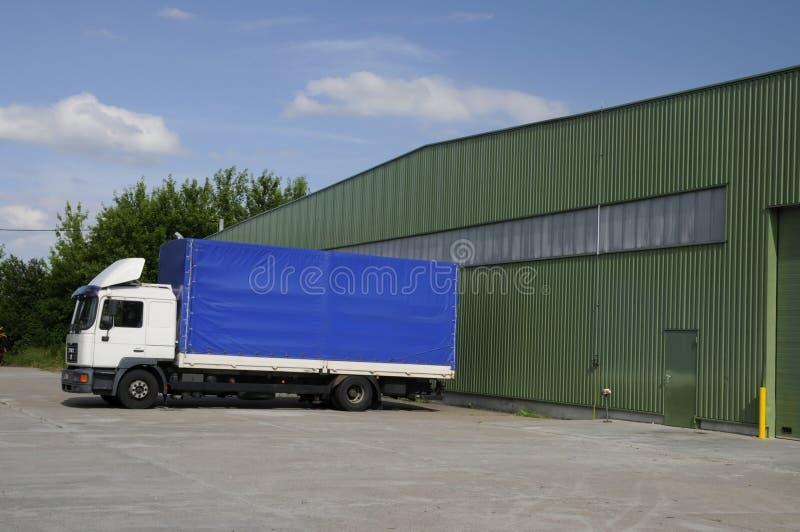 Blue lorry stock photos