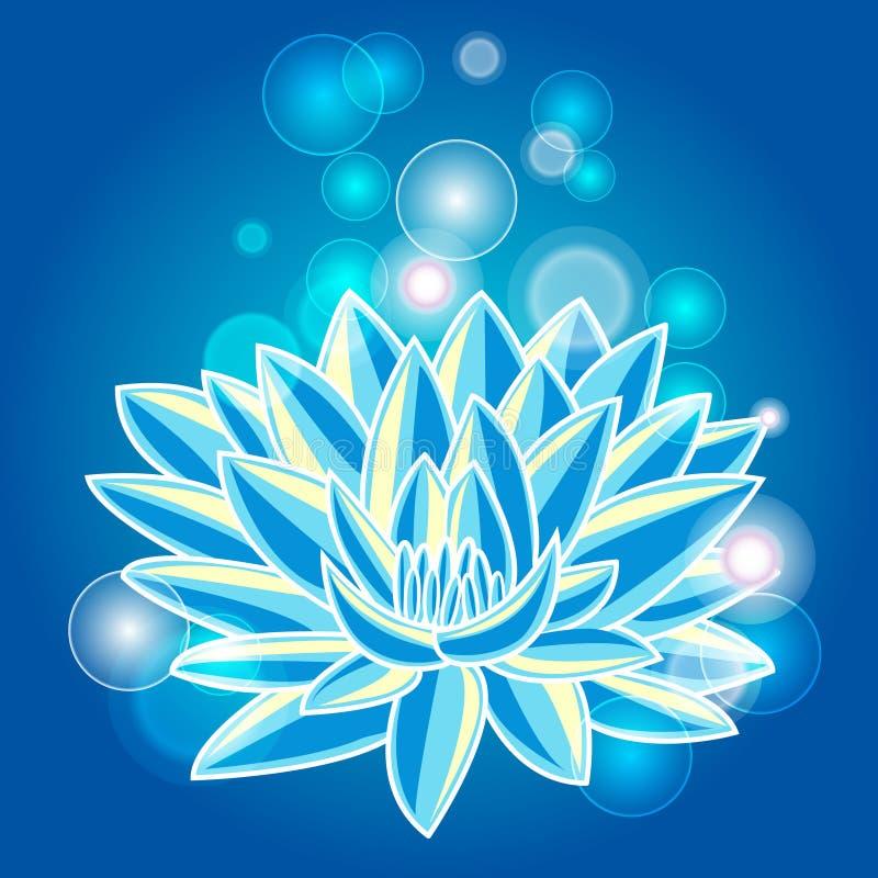 Blue lotus royalty free illustration